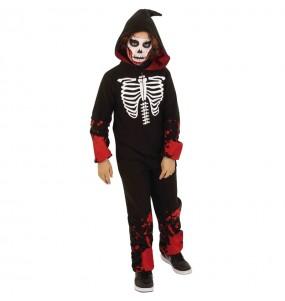 Disfarce Halloween Esqueleto sangrento kigurumi para meninos para uma festa do terror
