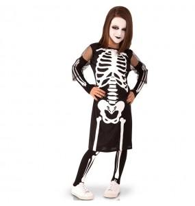 Fato de Esqueleto sinistro para menina