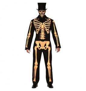 Fato de Esqueleto Skull adulto para a noite de Halloween