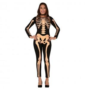 Fato de Esqueleto Skull mulher para a noite de Halloween