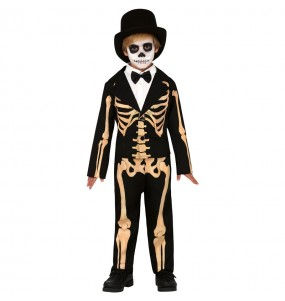 Disfarce Halloween Esqueleto Skull para meninos para uma festa do terror