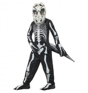 Fato de Esqueleto T-Rex para menino