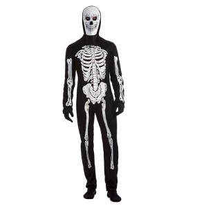 Fato de Esqueleto tenebroso para homem