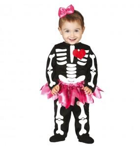 Fato de Esqueleto tutu para bebé