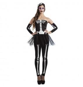 Fato de Esqueleto tutu para mulher