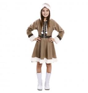 Disfarce Esquimó Inuit menina para que eles sejam com quem sempre sonharam