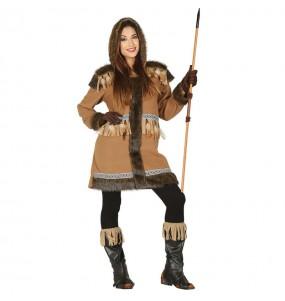 Disfarce original Esquimó do Polo Norte mulher ao melhor preço