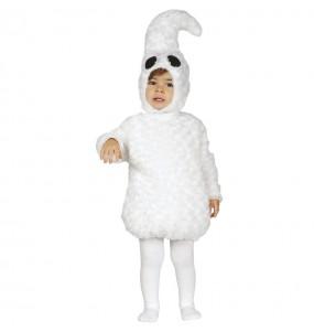 Fato de Fantasma branco para bebé