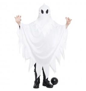 Fato de Fantasma branco para menino