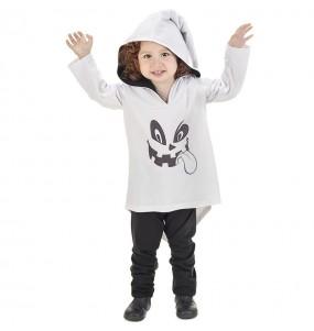 Disfarce Halloween Fantasma com que o teu bebé ficará divertido.