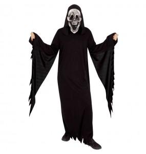 Fato de Fantasma Skull adulto para a noite de Halloween