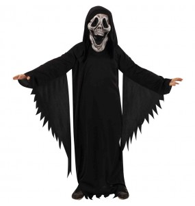 Disfarce Halloween Fantasma Skull para meninos para uma festa do terror