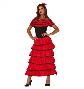 Disfarce original Flamenca vermelha mulher ao melhor preço