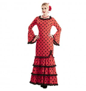 Fato de Flamenco Vermelho para mulher
