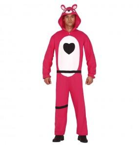 Disfarce Fortnite Urso rosa adulto divertidíssimo para qualquer ocasião