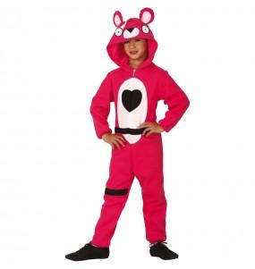Disfarce Fortnite Urso Rosa menino para deixar voar a sua imaginação