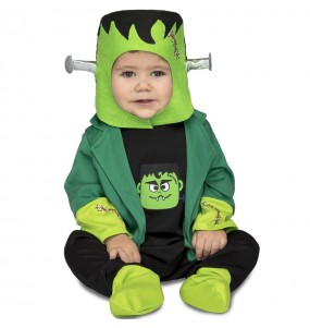 Disfarce Halloween Frankenstein com que o teu bebé ficará divertido