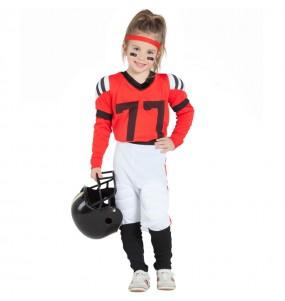 Disfarce Futebol Americano Vermelho menina para que eles sejam com quem sempre sonharam