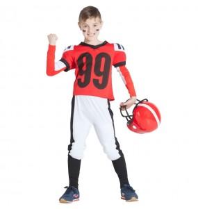 Disfarce Futebol Americano Vermelho menino para deixar voar a sua imaginação