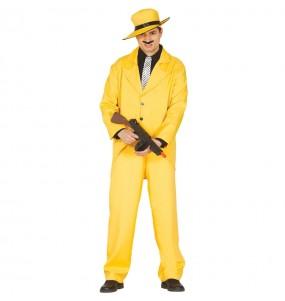 Disfarce Gangster amarelo adulto divertidíssimo para qualquer ocasião