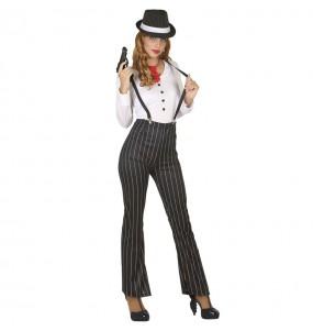 Fato de Gangster anos 20 para mulher