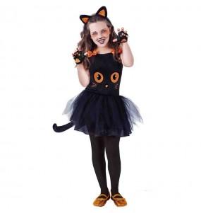 Fato de Gato preto com tutu para menina