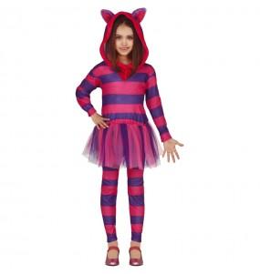 Disfarce Gato Cheshire menina para que eles sejam com quem sempre sonharam