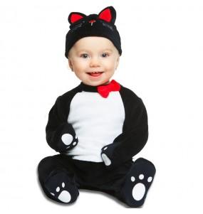 Fato de gato preto para bebé