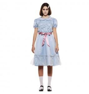 Fato de Gémea The Shining mulher para a noite de Halloween