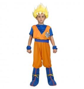 Disfarce Goku Super Saiyan Dragon Ball menino para deixar voar a sua imagina??o