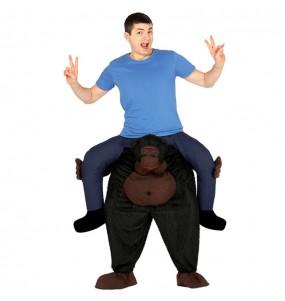 Disfarce Ride On Gorila adulto divertidíssimo para qualquer ocasião