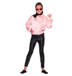 Disfarce Casaco Grease Pink Ladies menina para que eles sejam com quem sempre sonharam