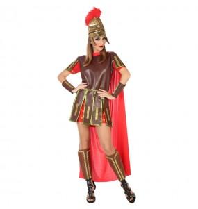 Disfarce original Guerreira Romana mulher mulher ao melhor preço