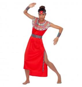 Disfarce original Guerreira Masai mulher ao melhor preço