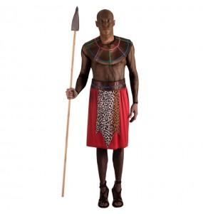 Disfarce Guerreiro Massai adulto divertidíssimo para qualquer ocasião