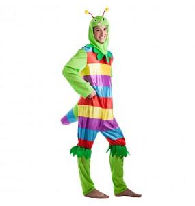 Disfarce Verme Multicolor adulto divertidíssimo para qualquer ocasião