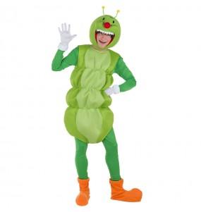 Disfarce Verme Verde adulto divertidíssimo para qualquer ocasião