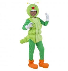 Disfarce Verme Verde menino para deixar voar a sua imaginação