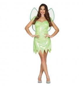 Disfarce original Fada verde Sininho mulher ao melhor preço
