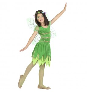 Fato de Fada verde com asas para menina