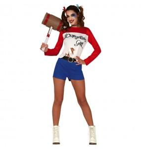 Disfarce original Harley Quinn Comic mulher ao melhor preço