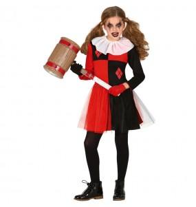 Fato de Harley Quinn cosplay para menina