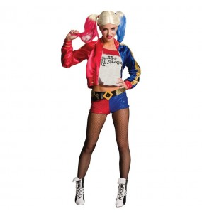 Fato de Harley Quinn DC Comics mulher para a noite de Halloween