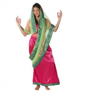 Disfarce original Sari Hindu mulher ao melhor preço