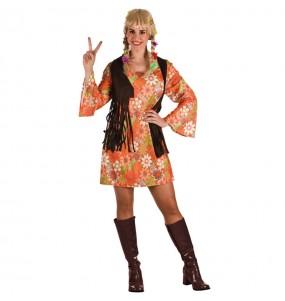 Disfarce original Hippie Castanho mulher ao melhor preço