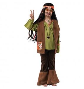 Disfarce Hippie Castanho menino para deixar voar a sua imaginação