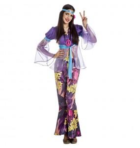 Fato de Hippie púrpura para mulher