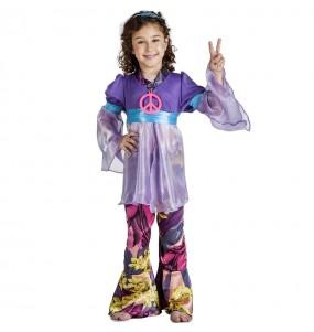 Fato de Hippie púrpura para menina