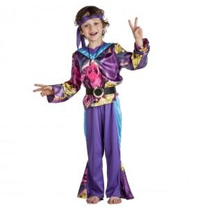 Fato de Hippie púrpura para menino