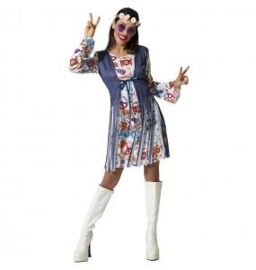 Fato de Hippie Peace para mulher